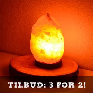 Himalaya salt lampe / saltlampe tilbud - billig pris online